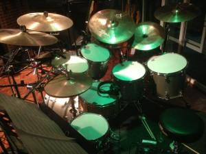 drums in studio 2